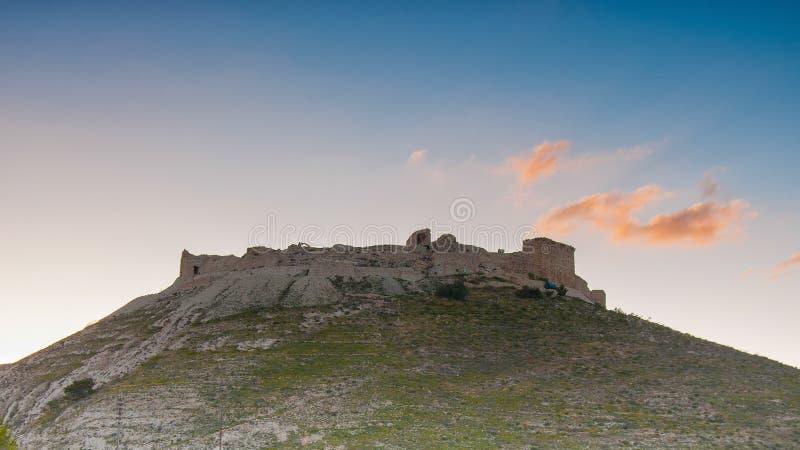 Shoubak城堡,约旦 免版税库存图片