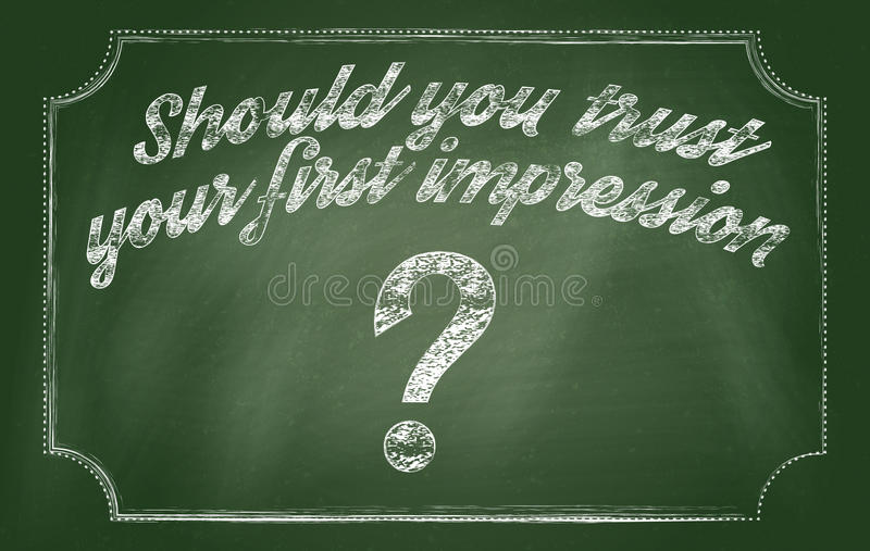 Should you trust your first impression royalty free stock photo