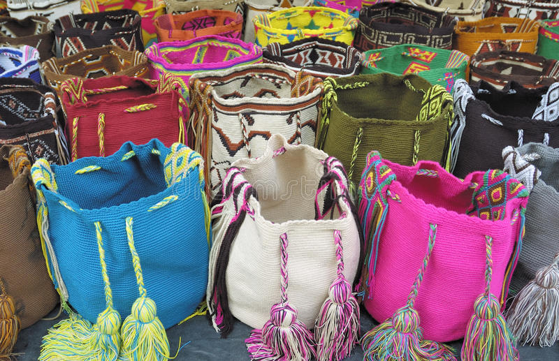 Shoulder bags, Cartagena stock images