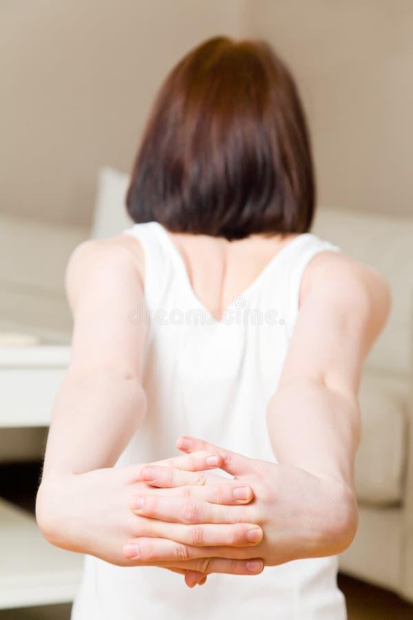 Shoulder exercise stock image