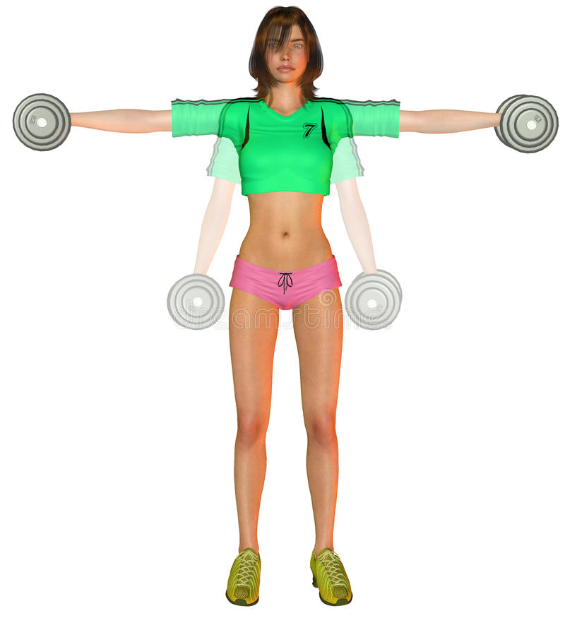 Shoulder Exercise With Weights Stock Images
