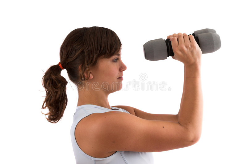 Shoulder exercises stock images