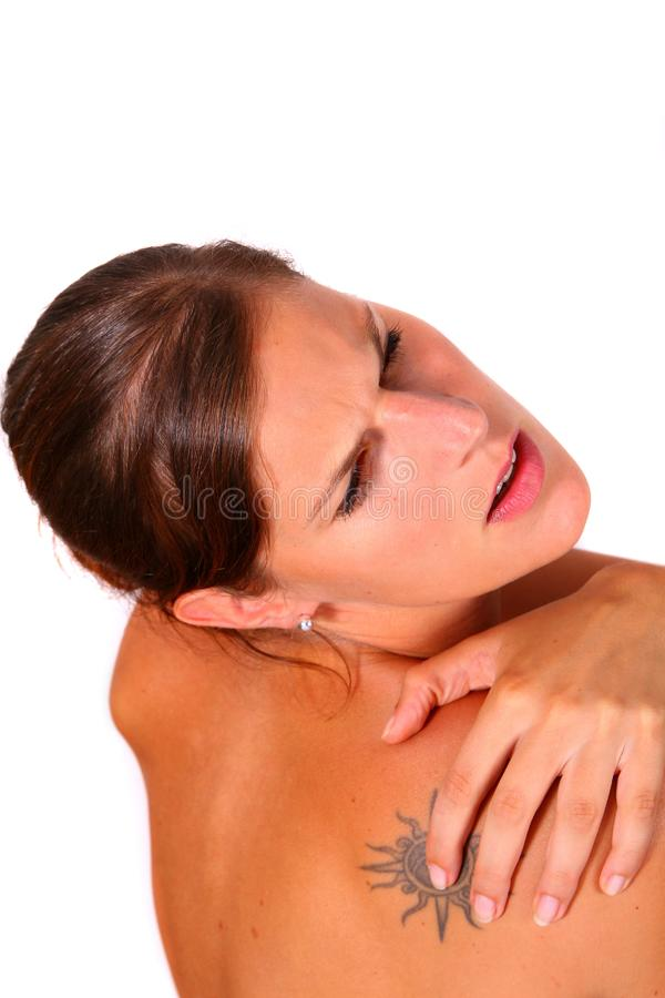 Shoulder Hurts royalty free stock photo