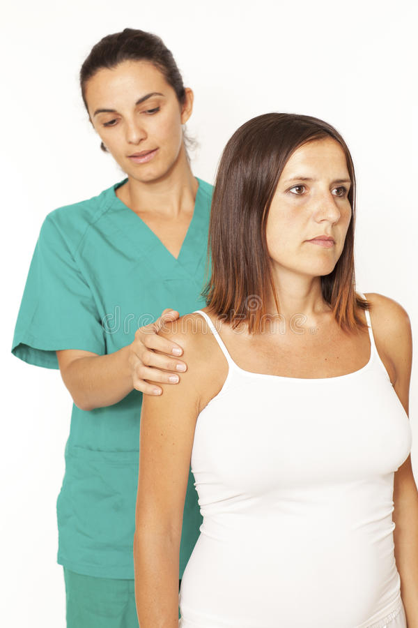 Shoulder Inspection Royalty Free Stock Photo