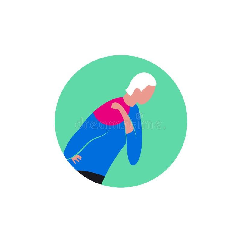 Shoulder osteoarthritis icon royalty free stock photo
