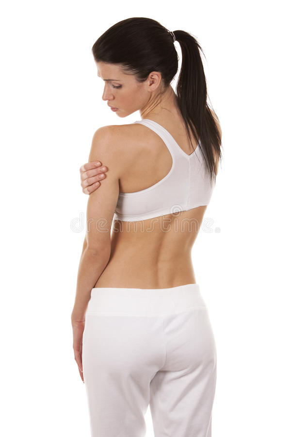 Download Shoulder pain stock photo. Image of pain, ouch, beautiful - 29610862