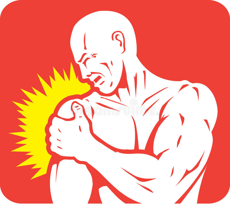 Download Shoulder pain Icon stock vector. Image of sports, joint - 34614414