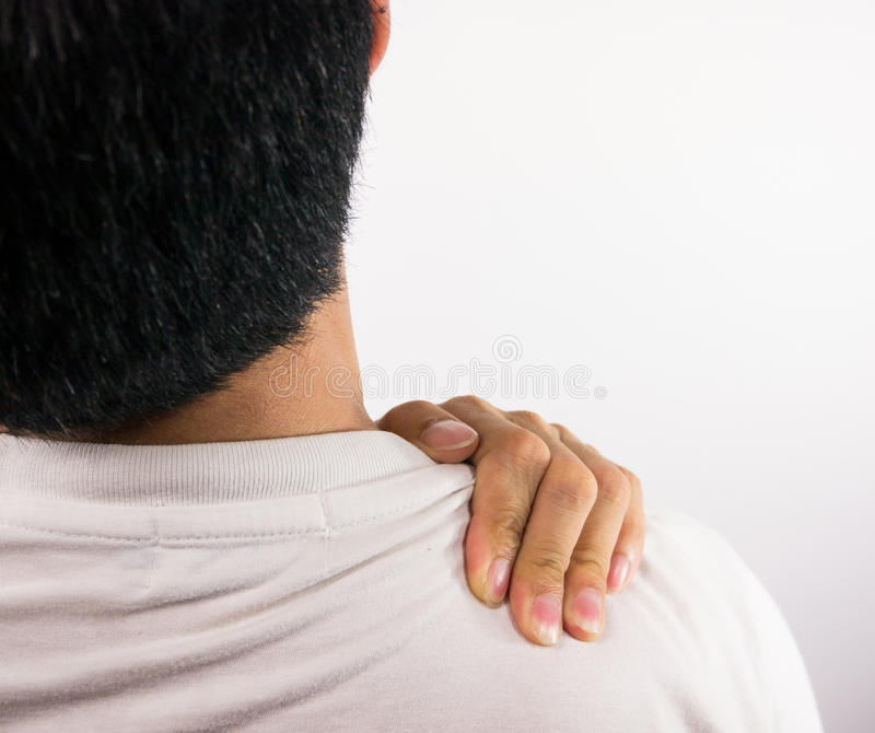 Download Shoulder pain stock photo. Image of adult, isolated, problem - 32608554
