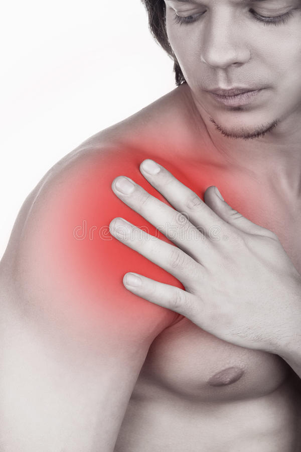 Download Shoulder pain stock image. Image of ache, isolated, shoulder - 33299589