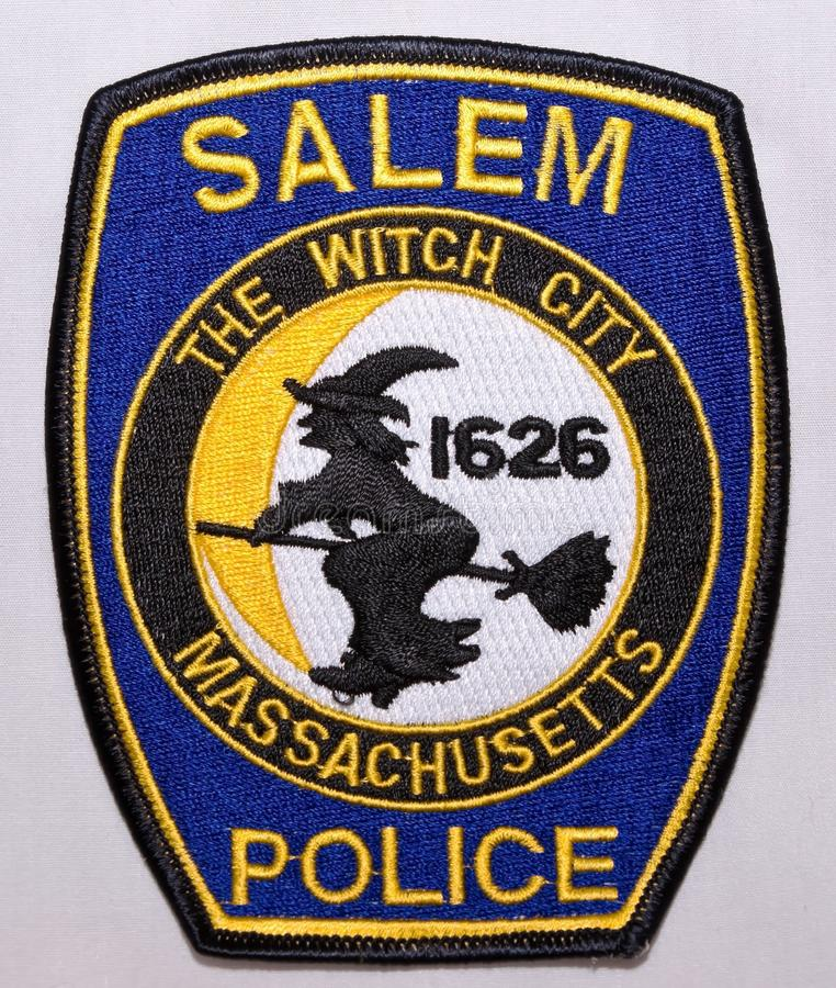 The shoulder patch of the Salem Police Department in Massachusetts stock image