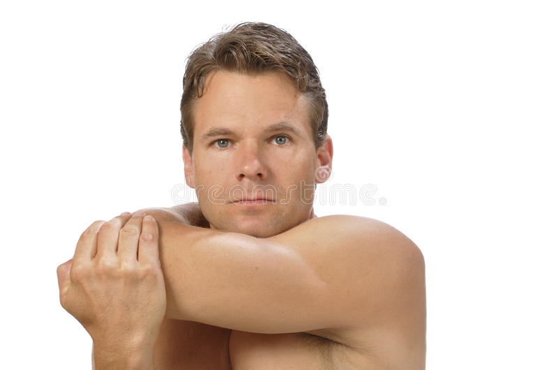 Download Shoulder stretch stock photo. Image of shirtless, hand - 25895132