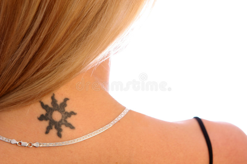 Shoulder and Tattoo stock photography