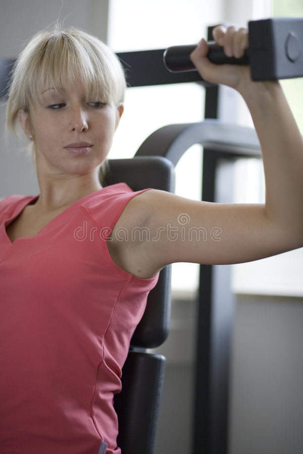 Shoulder training royalty free stock image