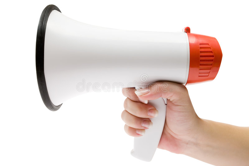 Shout It Out Loud royalty free stock images