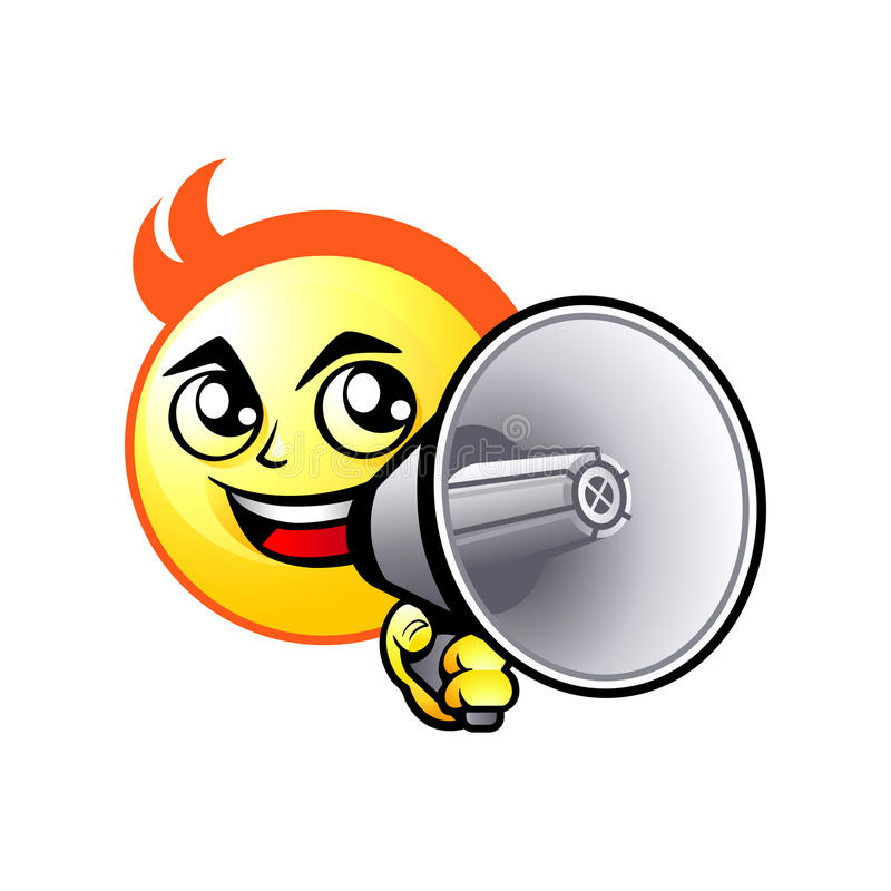 shout out smiley stock vector illustration of expression 34014137 rh dreamstime com shoot out clip art shout out clip art free