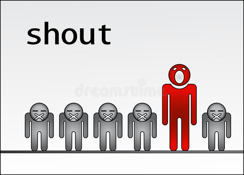 Download Shout Out Standing Out Of The Crowd Stock Vector - Illustration: 20226821
