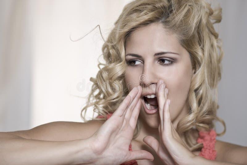 Shout woman portrait
