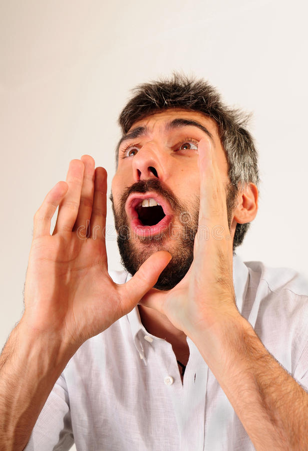 Download Shouting stock image. Image of crazy, angry, handsome - 11294783