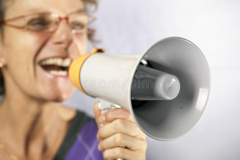 Download Shouting stock image. Image of announcemant, organize - 22699661