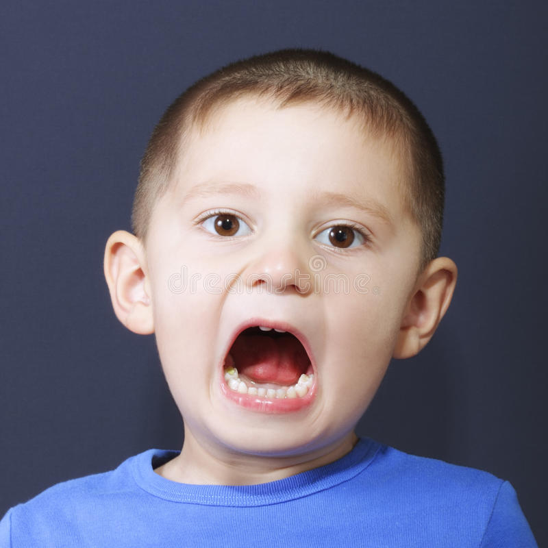 Shouting Boy Stock Images
