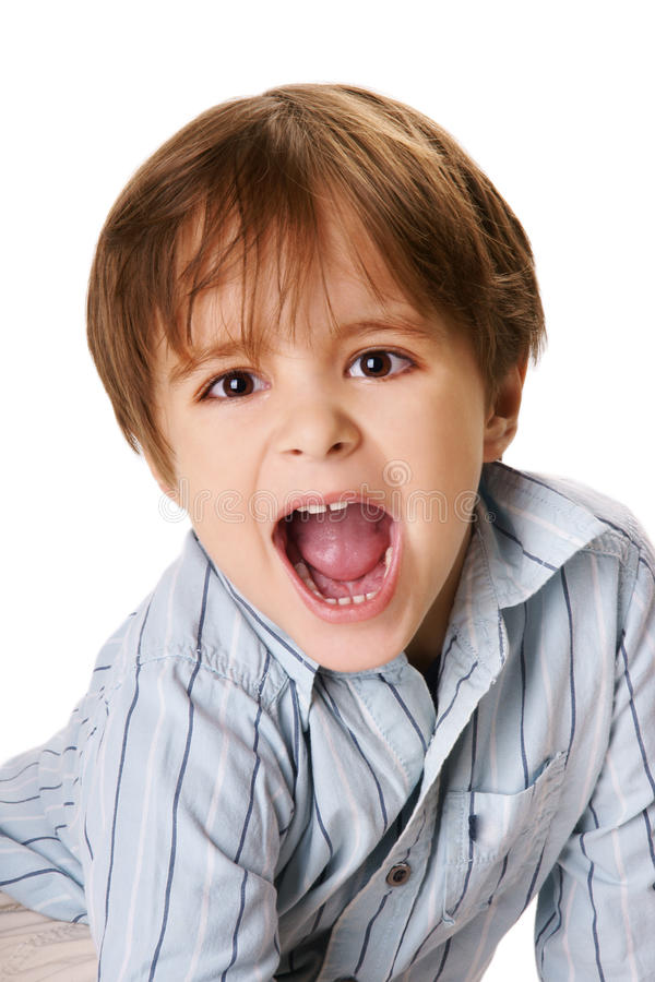 Shouting Boy Royalty Free Stock Photo