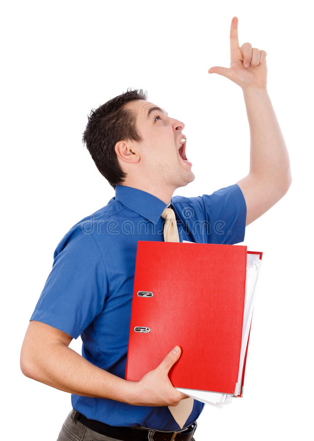 Download Dissatisfied Boss stock image. Image of boss, blue, emotion - 30272063