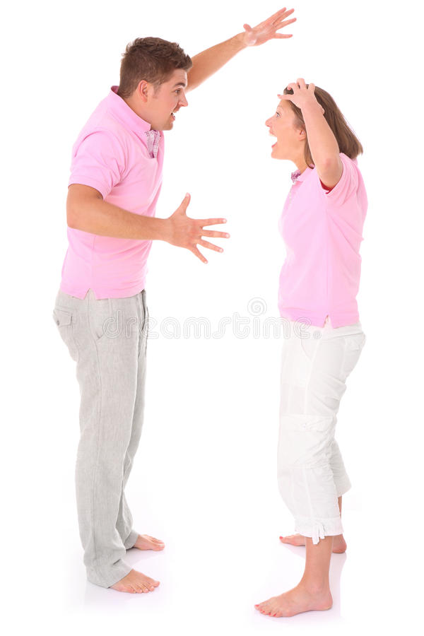 Shouting couple royalty free stock image