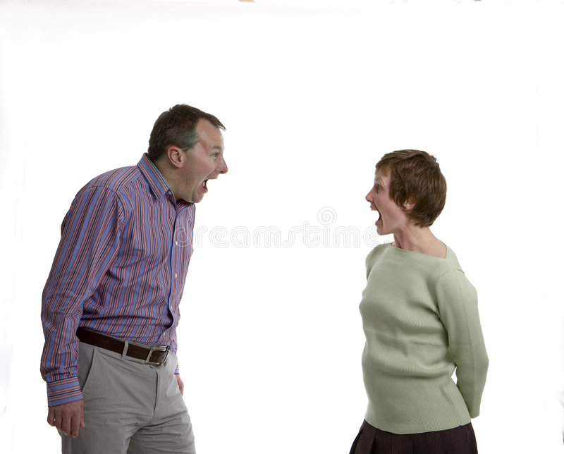 Shouting at each other royalty free stock photography