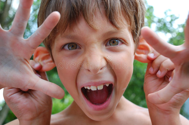 Download Shouting Four-handed Handsome Monster Stock Photography - Image: 10027212