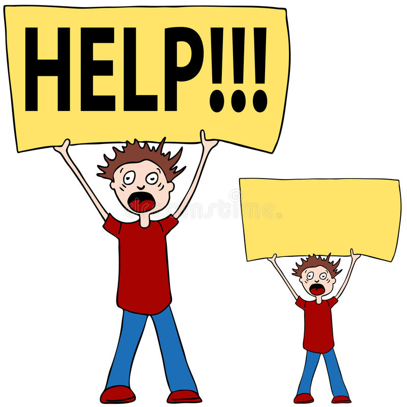 Download Shouting for Help stock vector. Image of needing, vector - 16270482
