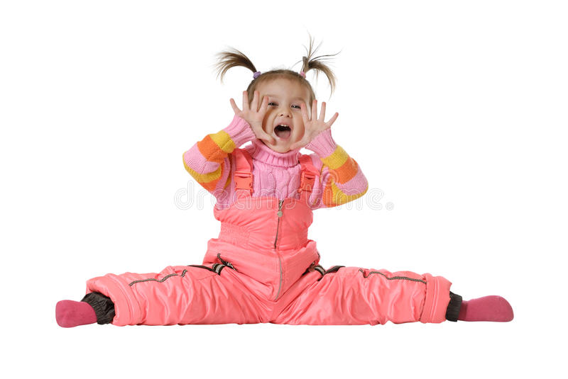 Download The shouting little girl stock image. Image of open, excitement - 13746597