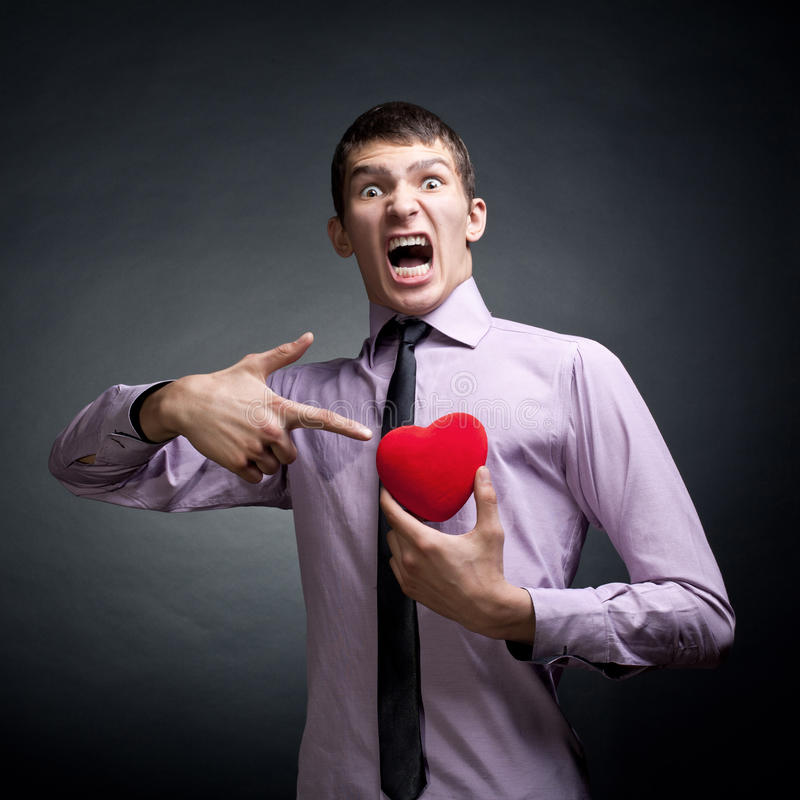 Download Shouting Man stock image. Image of heart, energy, facial - 26288503