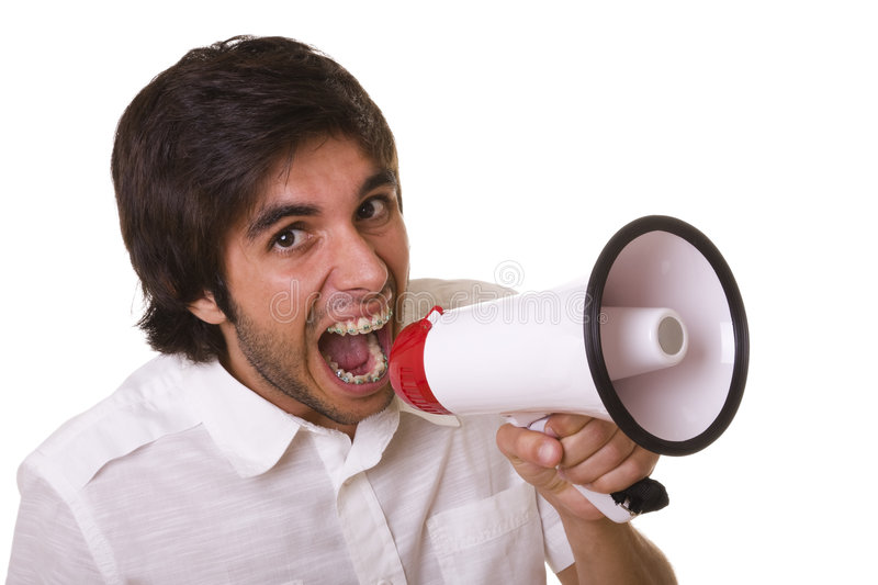 Download Shouting At The Megaphone Stock Images - Image: 7099614