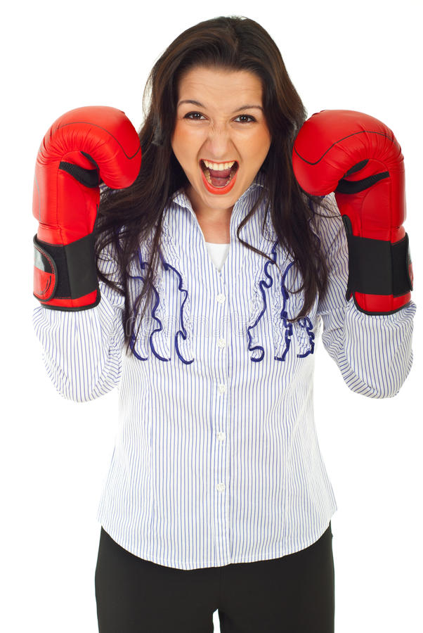 Download Shouting Nervous Business Woman Stock Photo - Image of formal, defend: 20574332