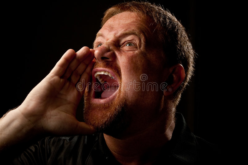 Shouting Out Loud Stock Photography
