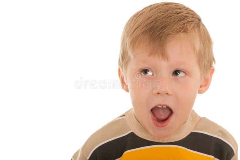 Download Shouting surprised boy stock image. Image of yell, childhood - 19264243