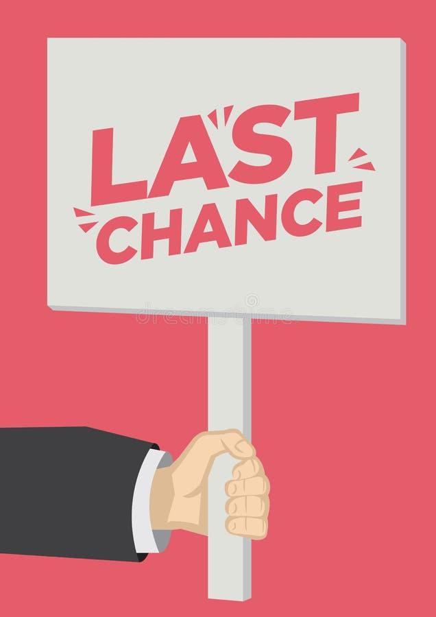Shoutout för detaljhandelsreasista chansenbefordran med ett plakatbaner mot en röd bakgrund royaltyfri illustrationer