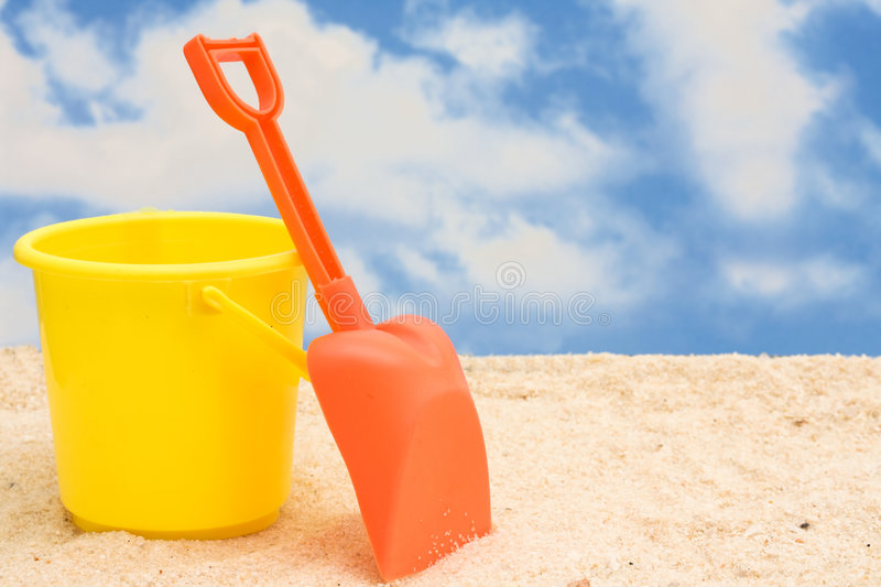 Download Shovel and Bucket stock photo. Image of bucket, game, color - 4730336