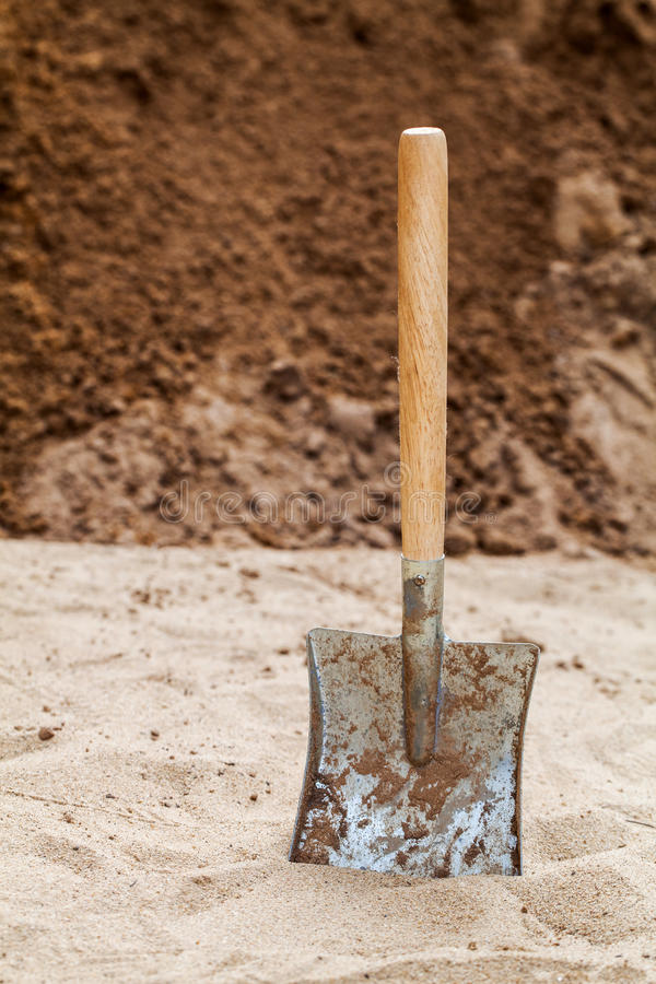 Download Shovel on the ground stock image. Image of copyspace - 28288075