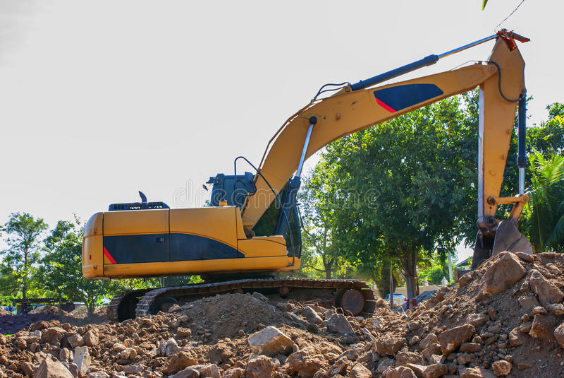 Shovel for heavy all work. For all soil royalty free stock photo