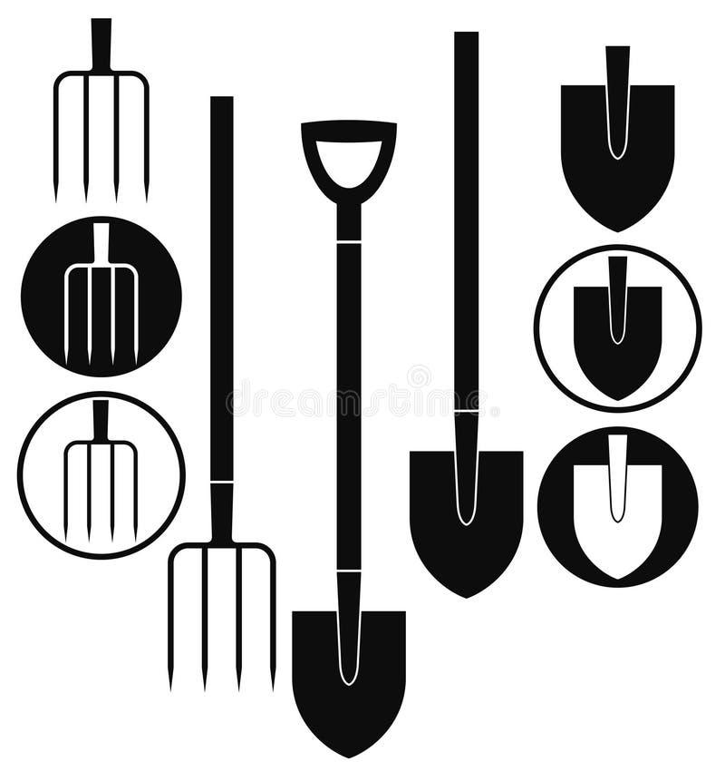 Free Shovel. Pitchfork Stock Image - 35688401