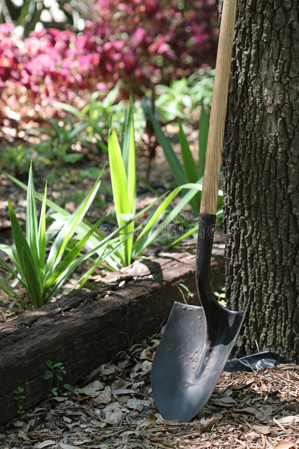 Shovel at Rest stock photography