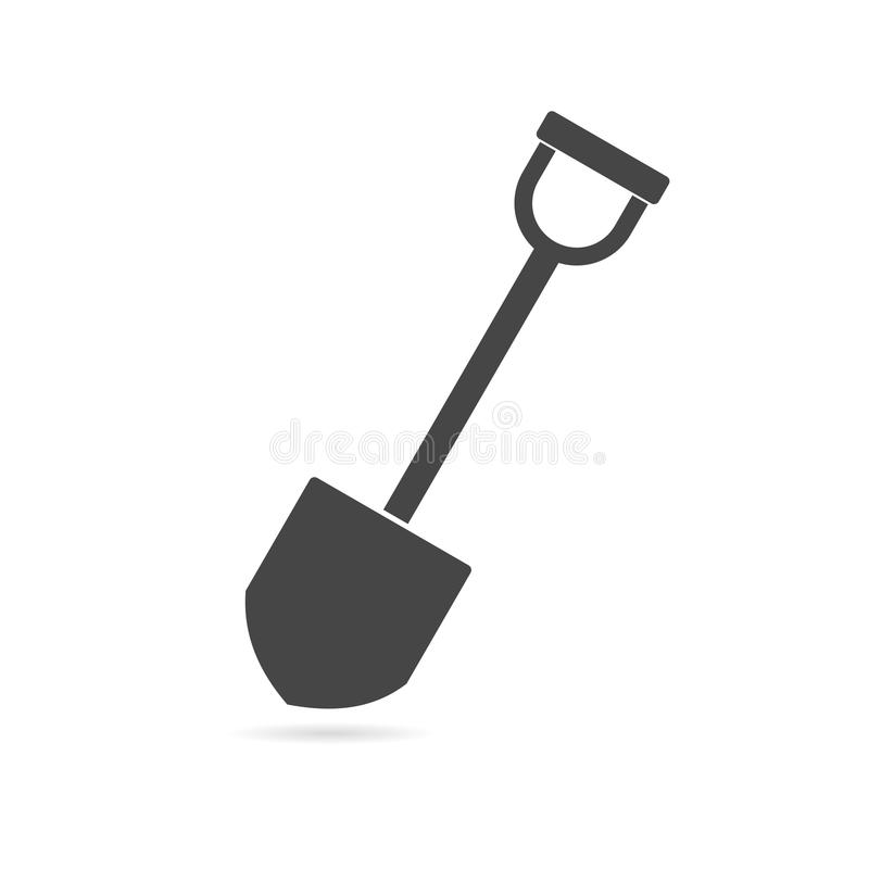 Shovel - vector icon stock illustration