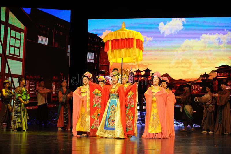  show†сценариев масштаба принцессы Wencheng-Больш тяни  legend†дороги стоковая фотография