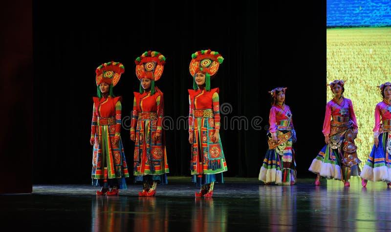  show†сценариев масштаба тибетских костюмов девушк-большое  legend†дороги стоковые фото