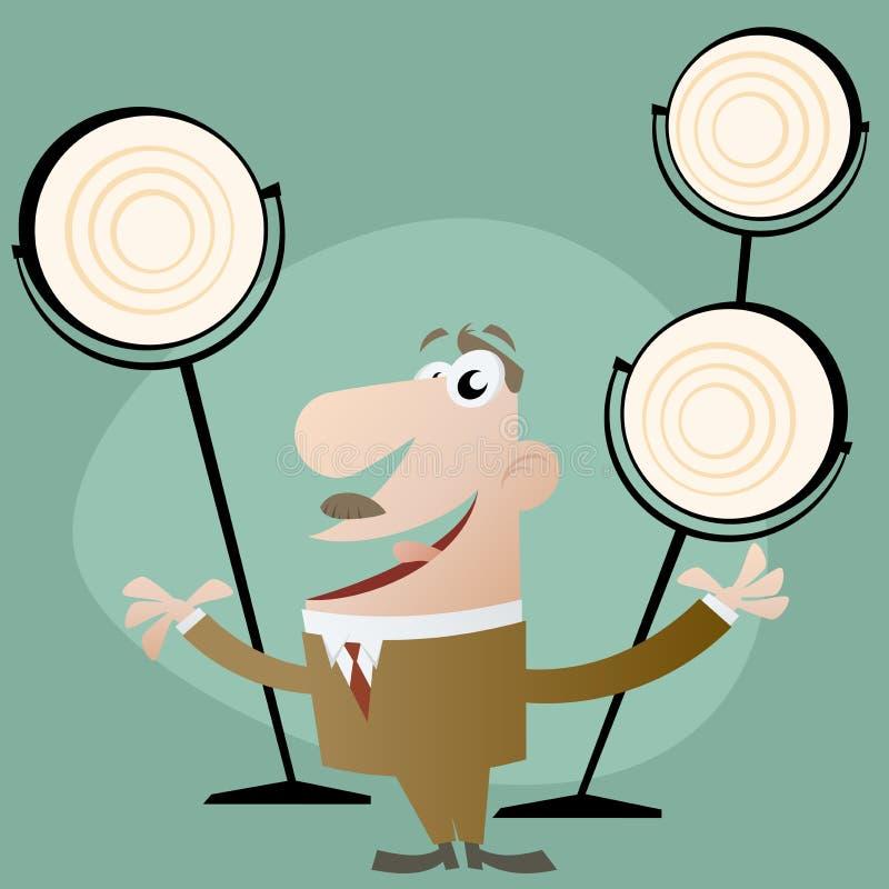 Show. Cartoon illustration of master of ceremonies vector illustration