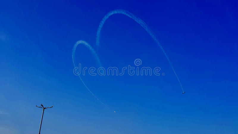 Show aereo fotografia stock