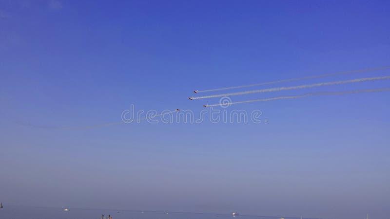 Show aereo immagine stock