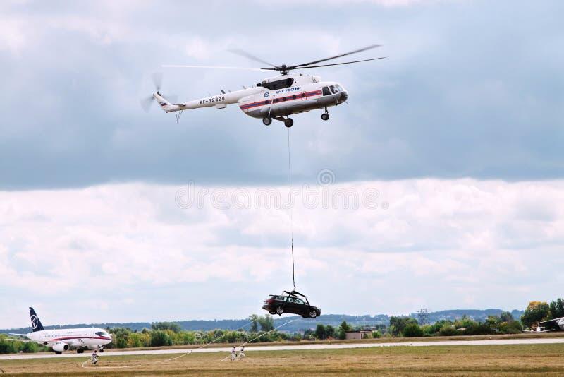 Show aereo MAKS-2009 Spazio aereo internazionale di mostra fotografia stock libera da diritti