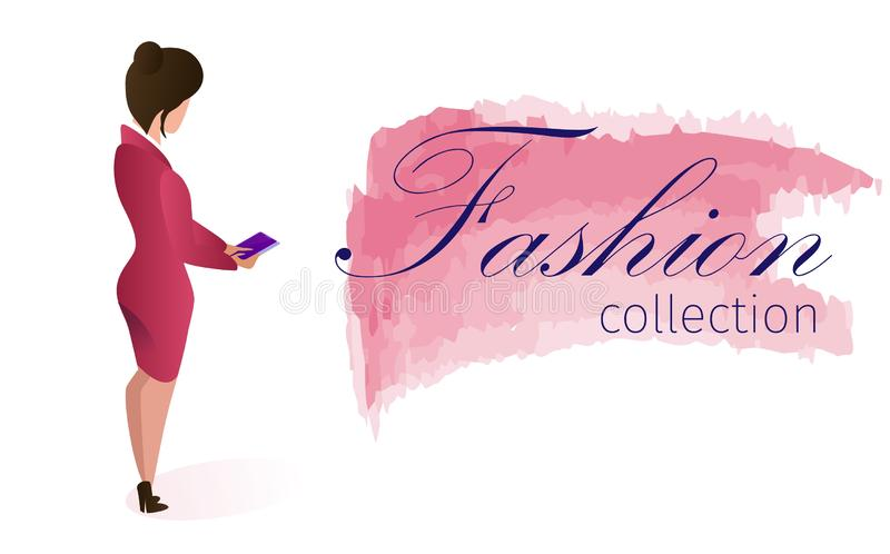 Show Bill Fashion Collection Online Application. royalty free illustration